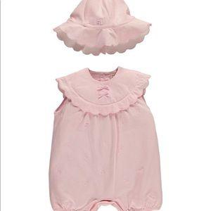 Emile et Rose baby girl romper light pink 9 months